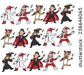 christmas and halloween team...   Shutterstock .eps vector #238646065