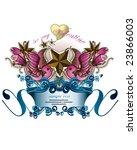 valentine emblem | Shutterstock .eps vector #23866003