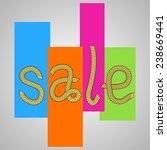 vector sticker   rope... | Shutterstock .eps vector #238669441