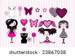 set of cute emo stile girls ... | Shutterstock .eps vector #23867038
