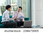 business partners discussing... | Shutterstock . vector #238673005