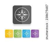compass vector icon  ... | Shutterstock .eps vector #238675687