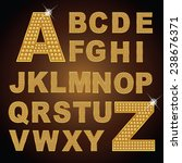 text alphabet gold diamond... | Shutterstock .eps vector #238676371
