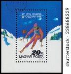 hungary   circa 1987  a stamp... | Shutterstock . vector #238688329