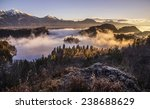 Постер, плакат: Mystical Sunrise over Lake
