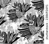 vector pattern with hand drawn...   Shutterstock .eps vector #238692691