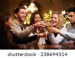 group of friends enjoying... | Shutterstock . vector #238694314