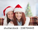 mother and daughter against... | Shutterstock . vector #238704445