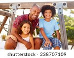 father with children on... | Shutterstock . vector #238707109