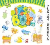baby boy set | Shutterstock .eps vector #238710949
