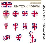 united kingdom flag collection  ... | Shutterstock .eps vector #238725235