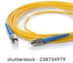 fiber optic cable on white... | Shutterstock . vector #238734979