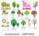 trees | Shutterstock .eps vector #23873653