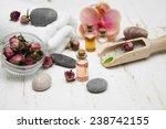 spa composition. sea salt ... | Shutterstock . vector #238742155