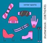 winter sports equipment flat... | Shutterstock .eps vector #238742431
