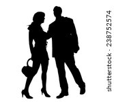 vector silhouette of couple on... | Shutterstock .eps vector #238752574