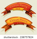 comic circus party banners and...