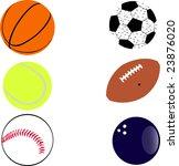 sport balls detail   vector | Shutterstock .eps vector #23876020