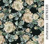 roses seamless pattern.   Shutterstock . vector #238781335