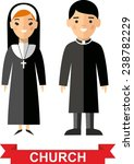 set of a religious people ... | Shutterstock .eps vector #238782229