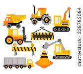 construction truck vector clip... | Shutterstock .eps vector #238783084