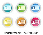 set of rounded colorful buttons ...   Shutterstock . vector #238783384