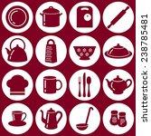 set of kitchen utensils icons... | Shutterstock .eps vector #238785481