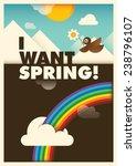 comic spring illustration....   Shutterstock .eps vector #238796107