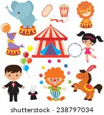 retro circus vector illustration | Shutterstock .eps vector #238797034