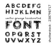 vector grunge handcrafted font...   Shutterstock .eps vector #238798717