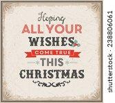 funny christmas illustration | Shutterstock .eps vector #238806061