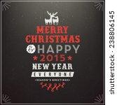 christmas illustration    Shutterstock .eps vector #238806145