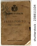 Italian Passport. Italian passport issued to Lucia Forgnone and her son Giuseppe Boggio, who immigrated from Italy to Nevada, 1909