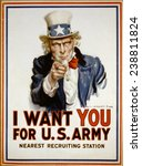 Uncle Sam  \'i Want You\' Us Arm...