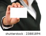 businesswoman in suit holding... | Shutterstock . vector #23881894