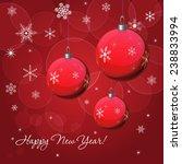 christmas   new year vector... | Shutterstock .eps vector #238833994
