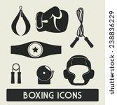 boxing label design  vector... | Shutterstock .eps vector #238836229