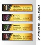 gold modern text box template... | Shutterstock .eps vector #238850035