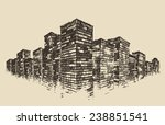 big city  architecture  real... | Shutterstock .eps vector #238851541