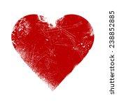 valentine heart   grunge vector ... | Shutterstock .eps vector #238852885
