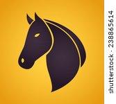 Stock vector horse logo 238865614