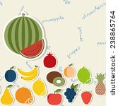 fruit pattern. flat style. the... | Shutterstock .eps vector #238865764
