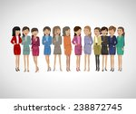 group of business women  ... | Shutterstock .eps vector #238872745