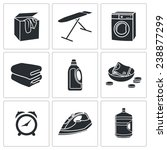 dry cleaning laundry icons set | Shutterstock . vector #238877299