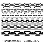 chains outline and silhouette... | Shutterstock .eps vector #238878877
