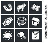 martial arts icons set | Shutterstock . vector #238880521