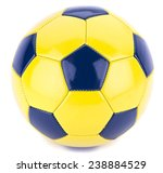 Soccer Ball Isolated On White...