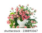 beautiful bouquet of pink roses ... | Shutterstock . vector #238893367