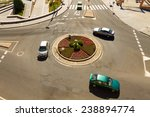 Cars In A Roundabout In A High...