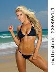 sexy beach bikini girl | Shutterstock . vector #238896451